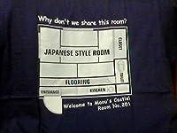 はたらく魔王さま オリジナル デザイン Tシャツ魔王城見取り図 間取り図 VILLA ROSA 笹塚 201号室Mサイズ綿100% 働く魔王様 c84 コミケ