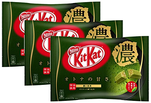 ネスレ日本 キットカット ミニ オトナの甘さ 濃い抹茶 12枚×3袋