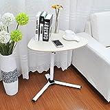 Soges コーヒーテーブル ティーテーブル 昇降式 カフェテーブル 木製ラウンジテーブル サイドテーブル ソファサイド キャスター付,ホワイトメープル