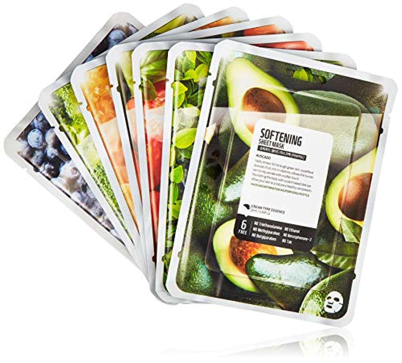 類推昼食再編成するファームスキン スーパーフードサラダ フォースキン フェイスマスクシート パッケージC(アボカド) 7枚入