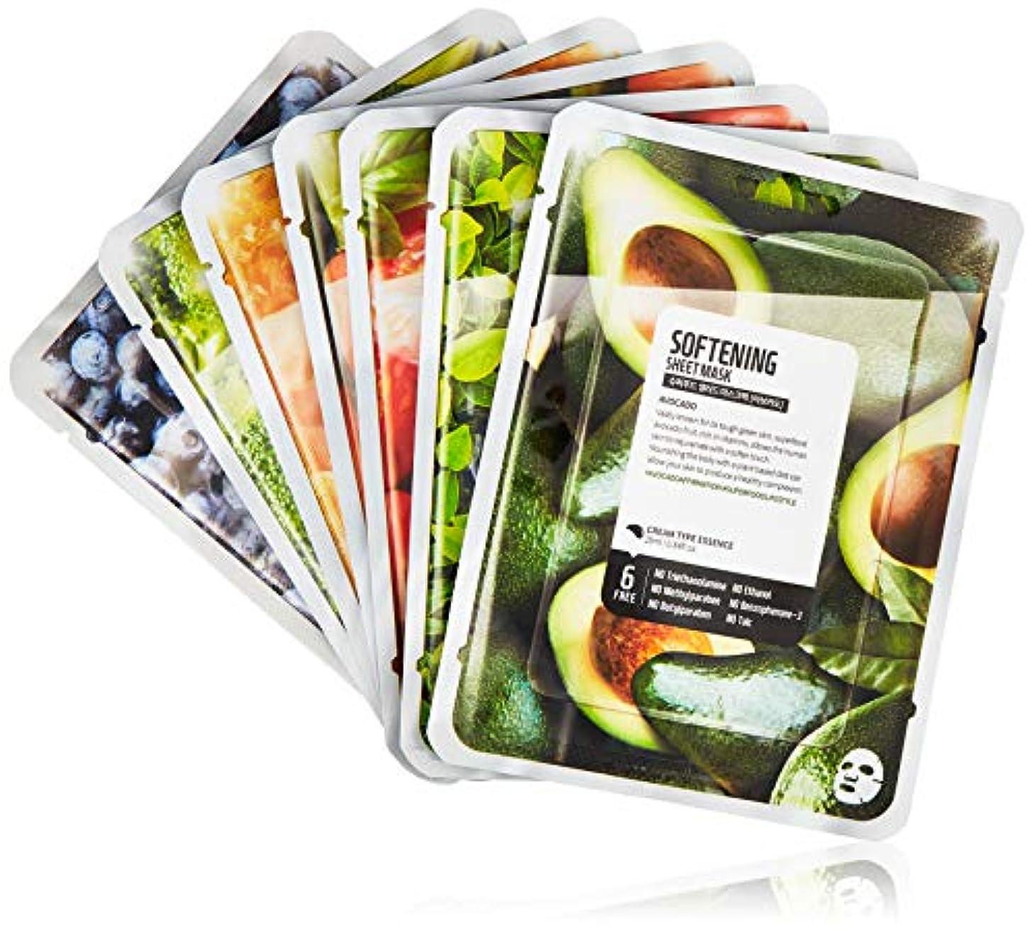 巨大処理するフェードファームスキン スーパーフードサラダ フォースキン フェイスマスクシート パッケージC(アボカド) 7枚入