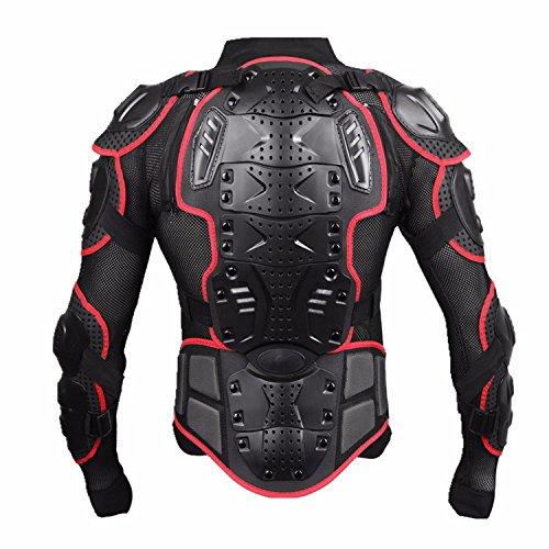 オートバイフルボディアーマー保護ジャケットガードATVモトクロスギアシャツfor Can - Am Sonic 125175200250400500560 XXX-Large レッド Protective Body Armor Jacket
