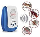 新開発 二代目 超音波式害虫駆除機 360°シャットアウト マウス、ラット、蛾、クモ、ゴキブリ、コウモリや他の昆虫撃退器