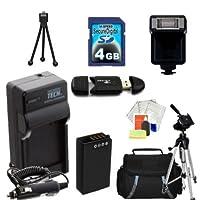 高度なアクセサリーキットfor the Nikon 1j1、1j2ミラーレスデジタルカメラ。キットIncludes拡張バッテリー、充電器、フラッシュ、4GB SDカード、キャリーケース、三脚、More