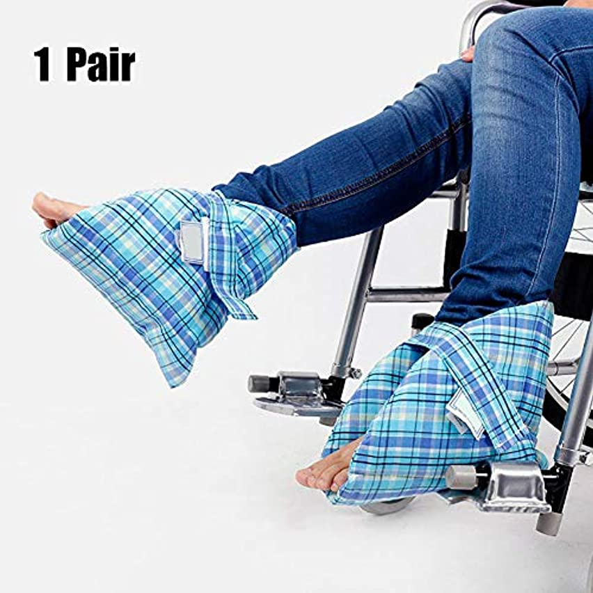 扇動する識別する武器足枕かかと保護パッド、効果的なpressure瘡とかかと潰瘍の軽減、腫れた足に非常に適した、快適なかかと保護足枕、ペア