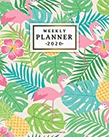 Weekly Planner 2020: Weekly & Daily Views with To-Do's, Funny Holidays & Inspirational Quotes, Vision Boards, Notes and More | 2020 Organizer, Agenda and Diary | Nifty Tropical Flamingo & Pineapple Print