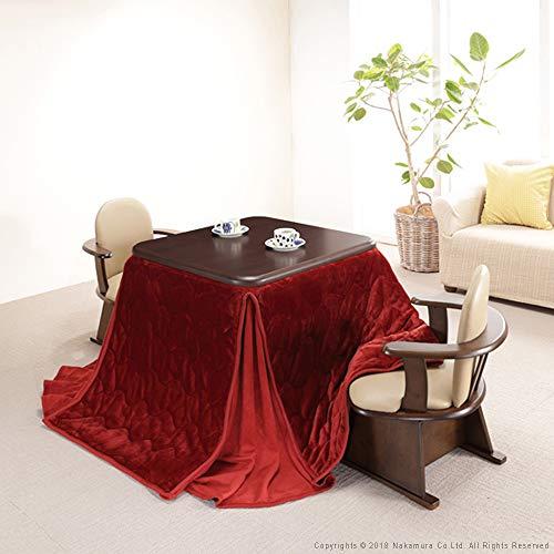 こたつテーブル 正方形 80 ダイニングこたつ 本体+専用布...