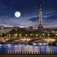 写真バックドロップ–Paris In Moonlight–10x 10ft。シームレスなファブリック