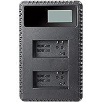 SODIAL GoPro HERO5,Hero 5 Black,Gopro5和GoPro AHDBT-501,AHBBP-501スポーツカメラ用のLCDデュアルスリム充電器(ファームウェアv01.57、v01.55および将来のアップデートに対応)