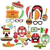bestoyard 29pcsフィエスタ写真ブース小道具キットMexican Carnival Cinco De MayoパーティーSupplies Favors