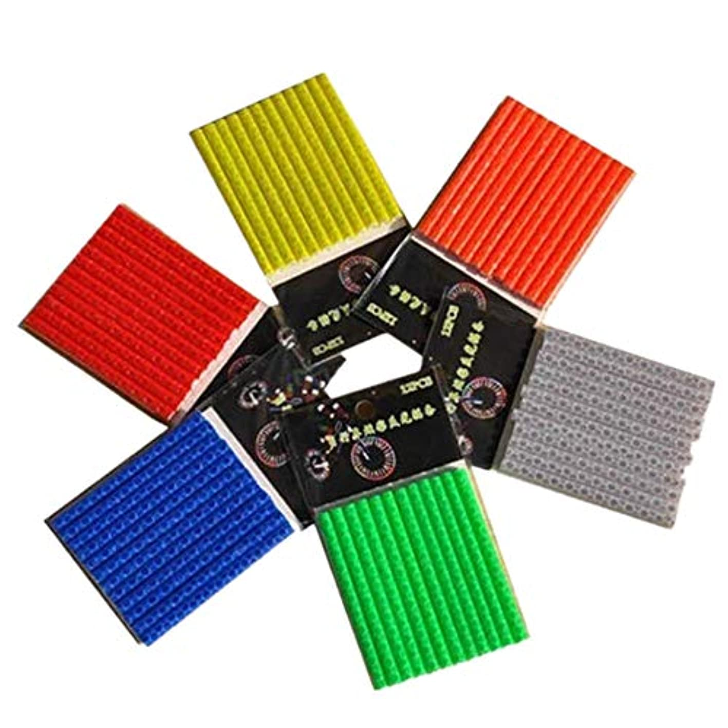 過度の弾丸アレンジ自転車ホイールチューブスポークリフレクター、反射装置クリップ、チューブ警告テープストリップ6セット/ 72個