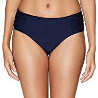 Vegatos Women Tummy Control Bikini Bottoms Solid Swim Briefs Bathing Suit Bottom