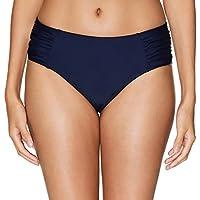 Vegatos Women Tummy Control Bikini Bottoms Solid Swim Briefs Bathing Suit Bottom