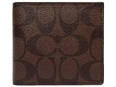 [コーチ] COACH 財布(二つ折り財布) F75006 マホガニー×ブラウン シグネチャーPVC レザー コイン ウォレット メンズ [アウトレット品] [ブランド] [並行輸入品]