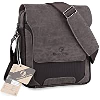 Koolertron Mens Canvas PU Shoulder Bag Handbags Briefcase Office Messenger Bag