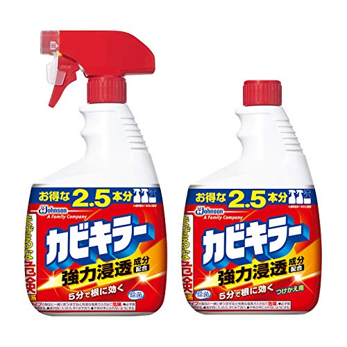 【まとめ買い】 カビキラー カビ取り剤 特大サイズ 本体 1000g + つけかえ用 1000g