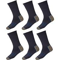 6 Pairs Holeproof Explorer Impact Wool Blend Mens Hiking Work Socks 6 10 11 14