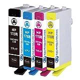 ジット HP対応 リサイクル インクカートリッジ HP対応 178 CR281AA 4色セット対応 JIT-NH1784P