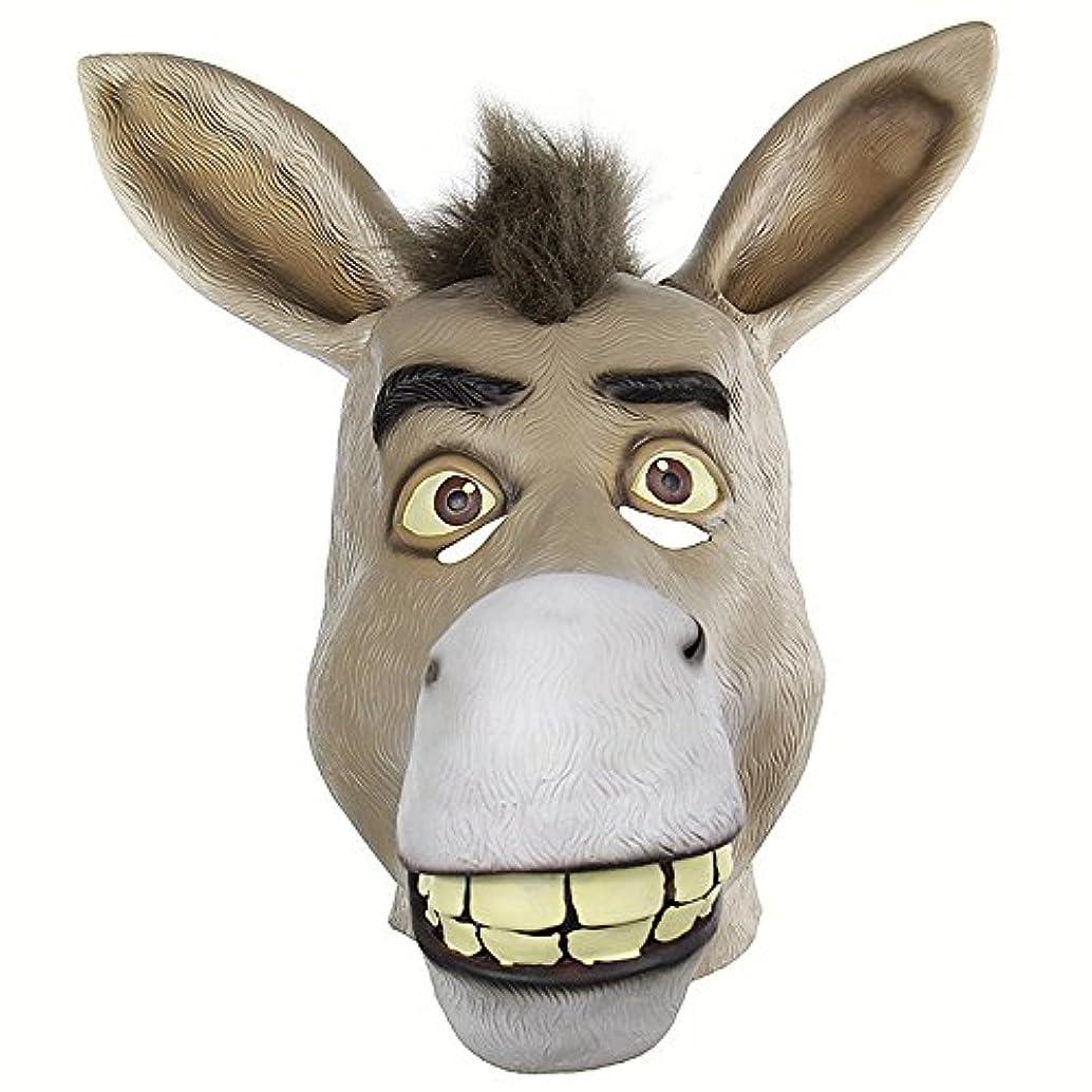 氏望遠鏡適応するおかしい動物の頭蓋骨セットShrekかわいそうな口驴ライブおかしいおかしいラテックスマスク