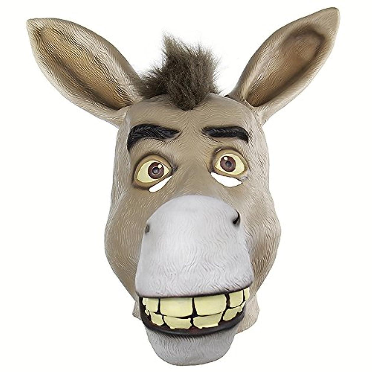 戦士でるありふれたおかしい動物の頭蓋骨セットShrekかわいそうな口驴ライブおかしいおかしいラテックスマスク