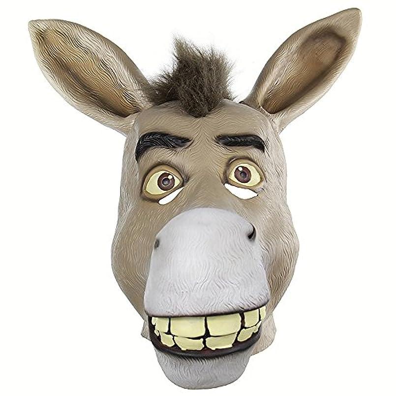 磁気分析的な推進おかしい動物の頭蓋骨セットShrekかわいそうな口驴ライブおかしいおかしいラテックスマスク