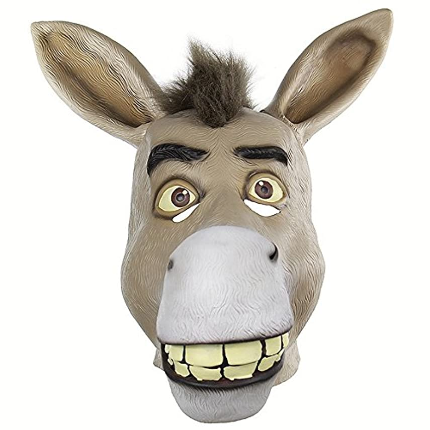 アコートランスミッション旅おかしい動物の頭蓋骨セットShrekかわいそうな口驴ライブおかしいおかしいラテックスマスク