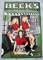 BecksビールゴルフPinup Girls 25x 16ポスター