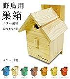 【カラー:#501透明】【野鳥用巣箱:取り付け型】カラーバードハウスA (前扉タイプ)(完成品) お庭でバードウォッチング!