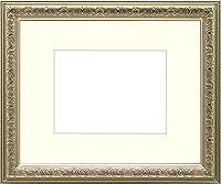 写真用額縁 シャイン/シルバー B4(364×257mm) ガラス マット付 マット色:黒