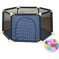 200ボールのブループレイペンアンチロールオーバーのベイビープレイヤードアンチコリジョン保育園Play Game Fence for Toddler (サイズ さいず : 180×66.5cm)
