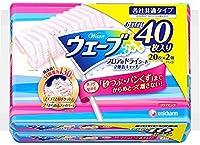 ウェーブドライシート立体Wキャッチ40枚ピンク × 5個セット