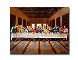 イエスキリスト最後の晩餐宗教壁画像8x 10アートプリント