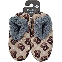 Chocolate Lab Super Soft Women's Slippers - One Size Fits Most - Cozy House Slippers - Non Skid Bottom - perfect for Chocolate Lab gifts