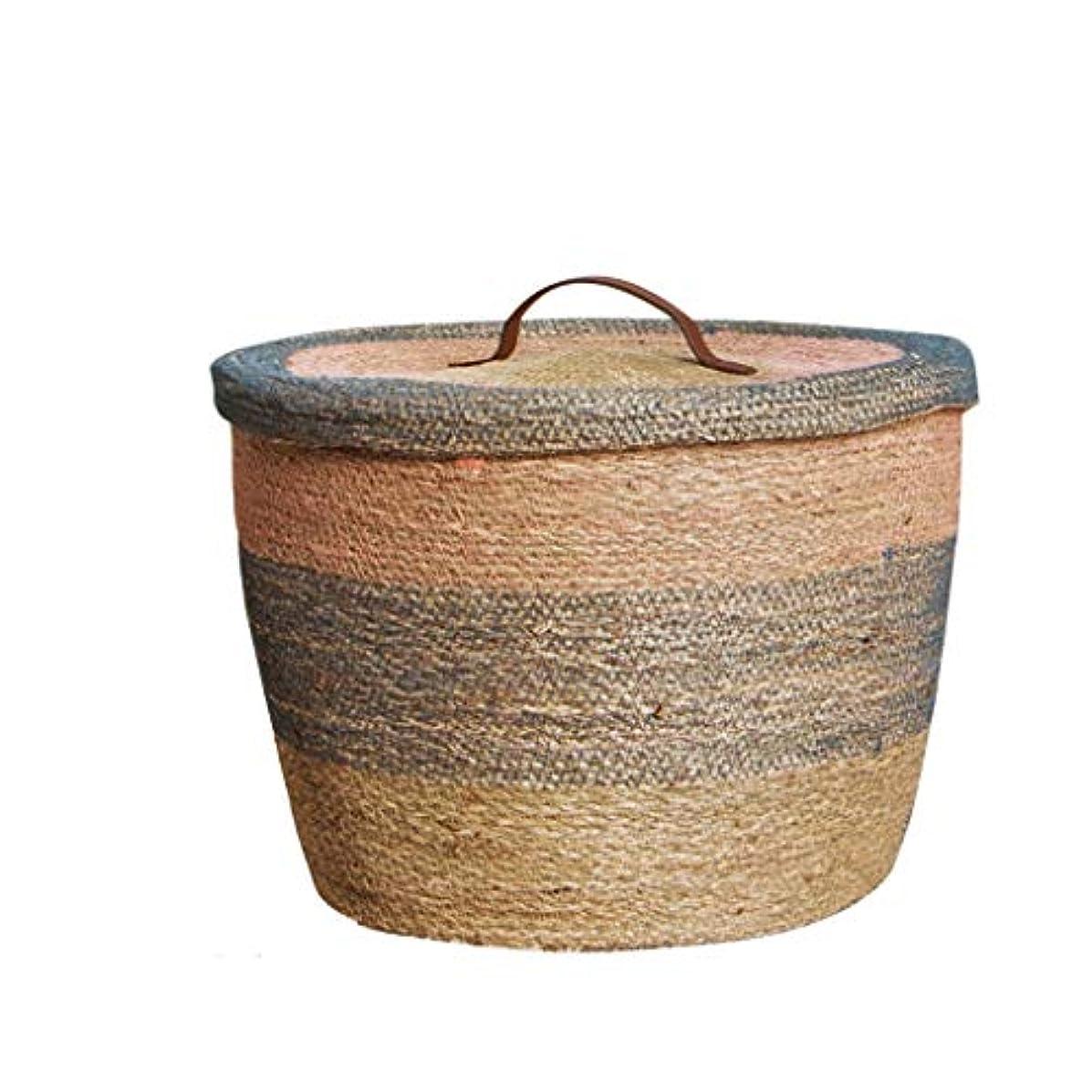 水を飲む包括的エージェントQYSZYG 屋根付き収納バスケット、スナックのおもちゃデスクトップ収納ボックス、水草織り 収納バスケット (サイズ さいず : B)