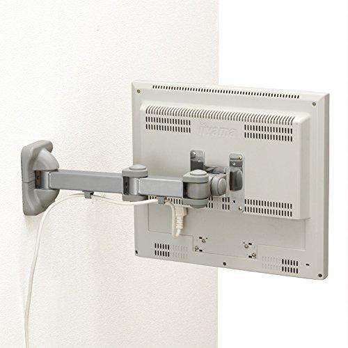 サンワダイレクト モニターアーム 壁面取り付けタイプ 3関節 ロングアームタイプ 耐荷重10kg 100-LA014