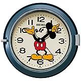 (セイコークロック) SEIKO CLOCK 大人 ディズニー クォーツ壁掛け時計 FS504L ミッキーマウス 防塵型 レトロ調 スチール 青塗装 アナログ