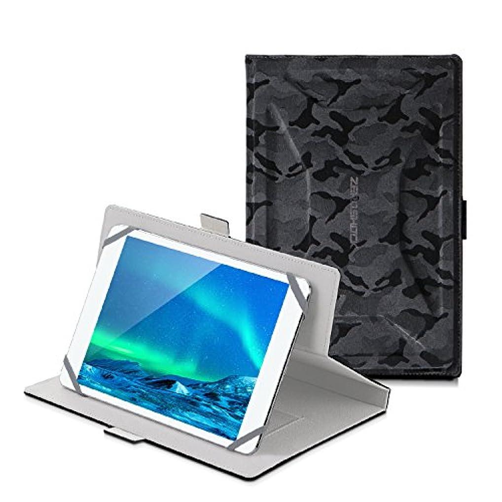 たまに露貧しいエレコム タブレットケース 汎用 ブックタイプ 衝撃吸収 ZEROSHOCK 7.0~8.4インチ 迷彩ブラック 7インチ 7.9インチ 8インチ 8.4インチ TB-08ZEROFT1