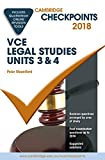 Cover of Cambridge Checkpoints VCE Legal Studies Units 3 and 4 2018 and Quiz Me More