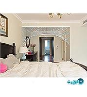 LIQICAI クリスタルビーズの装飾カーテンDIY&ウェディング&ホーム&壁の装飾のペンダントの戸口吊り - 5色使用可能 (色 : Sky Blue, サイズ さいず : Wide 250cm)