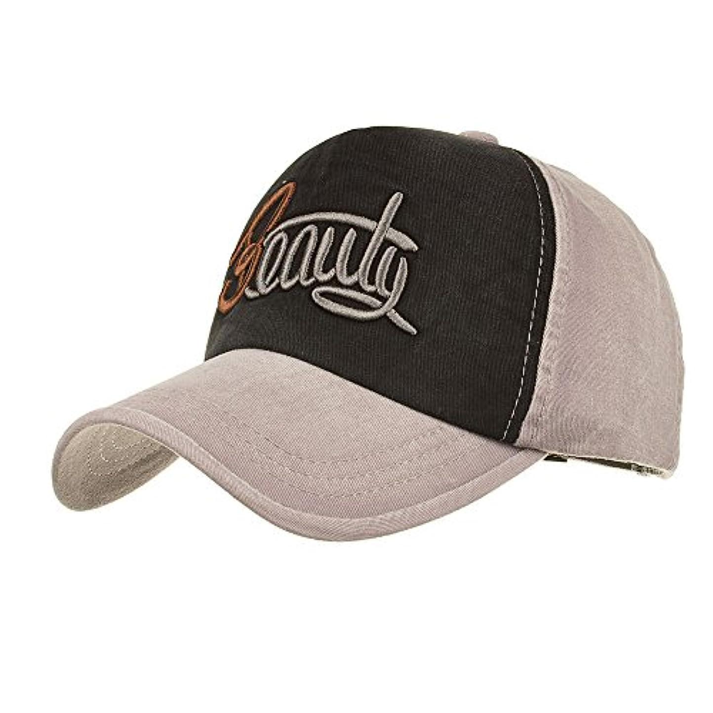 追跡君主時間とともにRacazing Cap パッチワーク刺繍 ヒップホップ 野球帽 通気性のある 帽子 夏 登山 可調整可能 棒球帽 UV 帽子 軽量 屋外 Unisex Hat (グレー)