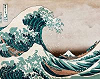 ArtVerse HOK039A2228A The Great Wave In Green and Brown Removable Art Decal 22 x 28 [並行輸入品]