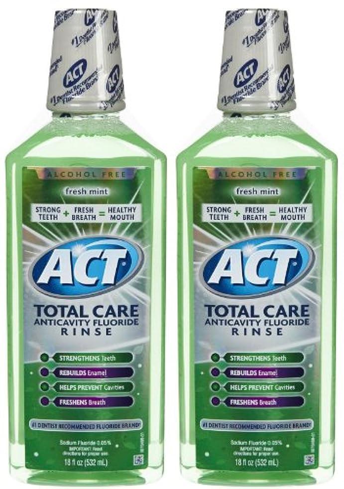 反対した知性くるみACT Total Care Anticavity Fluoride Mouthwash-Fresh Mint-18 oz, 2 pk by ACT