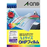 【Amazon.co.jp限定】 エーワン OHPフィルム ペンライト キンブレ インクジェット用 ノーカット 27077 5シート