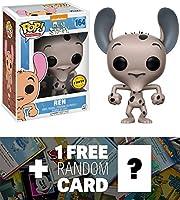Ren ( Chase ) : Funko POP 。X Ren & Stimpyビニールフィギュア+ 1Free American Cartoon Tradingカードバンドル( 121132)