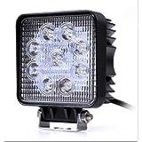 【マート ヴァスト】LEDワークライト(作業灯) 27W(12V-24V対応) 広角タイプ トラック用品、車外灯【10台セット】