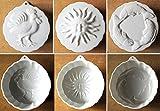 3個セット NewOldStock ケーキ型3種セット 太陽魚鶏 レトロ モールド 陶器 アンティーク
