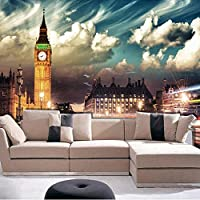 Xbwy カスタム写真の壁紙ヨーロッパスタイルのタワー自然風景3Dの壁の壁画のリビングルームのソファの背景壁紙-120X100Cm