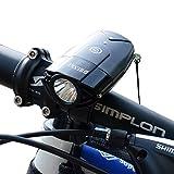 SHENKEY自転車ライト 2000mAh 1200ルーメン USB充電式 IP65防水防振 強/弱/フラッシュモード