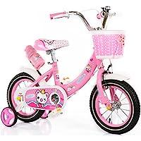 自転車 新しい子供のプリンセス自転車トレーニングホイール12インチ14インチ16インチ3?8歳エレガントピンク