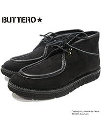【BUTTERO ブッテロ】 レザー チャッカブーツ ビブラムソール (B5612 NERO) ブラック